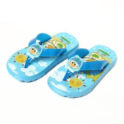 Sunny Bird Slip Ons-blue - Red Apple