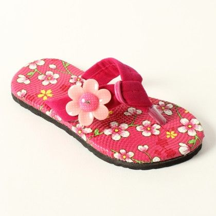 Printed Sole With 1 Flower On Side Slip Ons - Lek Cotton