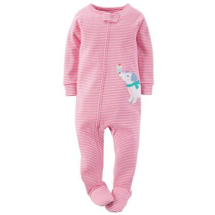 1-piece Snug Fit Cotton Pjs Stripe - Pink - Carter's