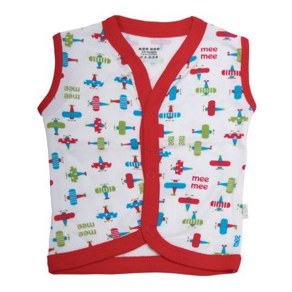 Baby Cotton Vest - White - Mee Mee