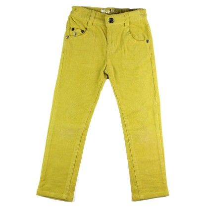 Basic Boy - Boy Micro Corduroy Pants - Yellow - WSP! Kids
