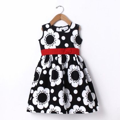 Dress All Over Print Black - Doodle