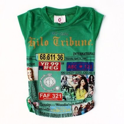 Green Casual Top With Digital  Print - Lei-Chie
