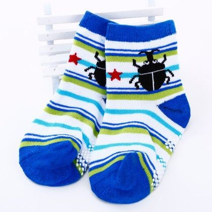 Spider Print Striped Socks- Dark Blue/white - Tootsies