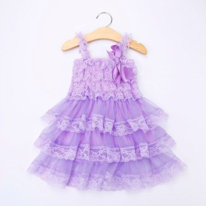Purple Ruffled Sling Dress - Little Dress Up