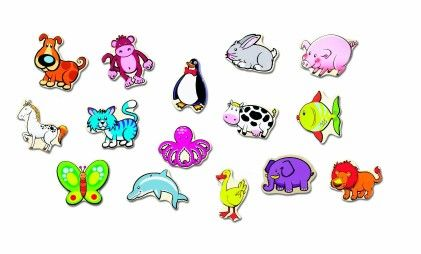 Stick Em Magnets--animals - Small World Toys