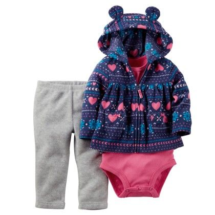 3-piece Cardigan Set - Blue And Pink - Carter's