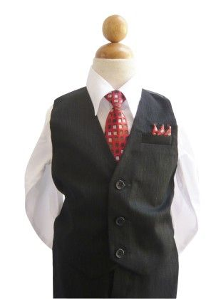 Black & White Pinstripe Vest Set - ClassyKidz Shop