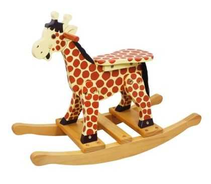 Safari Wooden Rocking Giraffe - Teamson Kids