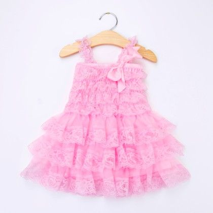 Pink Ruffled Sling Dress - Little Dress Up