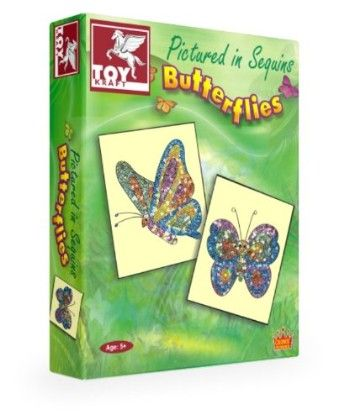 Pictured In Sequins Butterflies - TOY-KRAFT