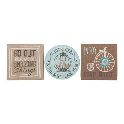 Set Of 3 Canvas Magnets - Go Out & Do - CR Gibson