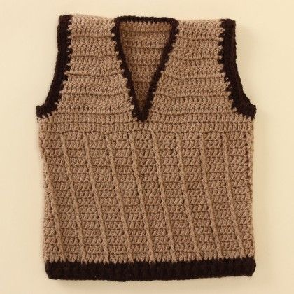 Light Brown Vest - Knitting Nani