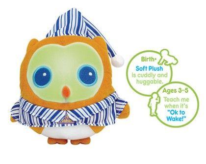 Ok To Wake!® Owl With Night-light & Music - Patch