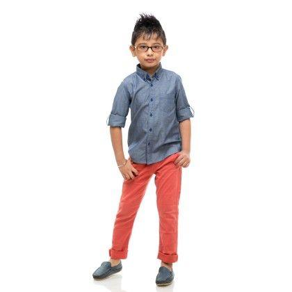 Brats Set Full Sleeve Shirt For Boys - BonOrganik