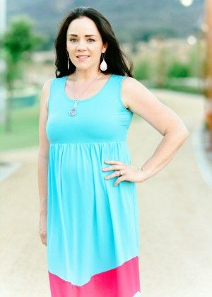 Mommy And Me Aqua Sleeveless Dress - Xcel Couture