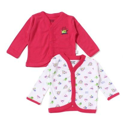 Baby Cotton Vest Pack Of 2 - Pink  White - Mee Mee