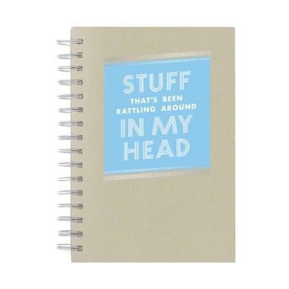 Stuff In My Head Notebook - CR Gibson