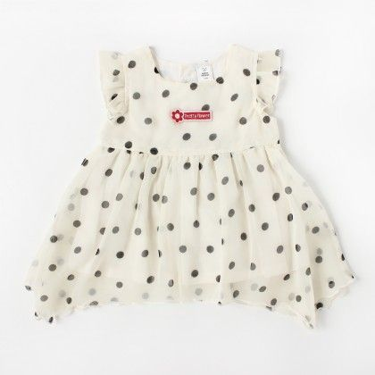 Girls Dot All Over Printed Party Dress - TOFFYHOUSE