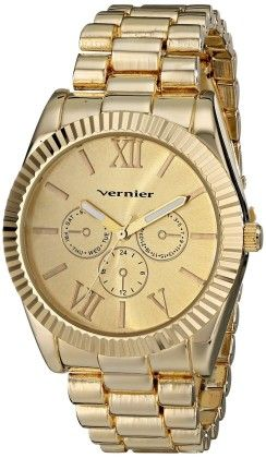 Vernier Women's Gold-tone Mid-size Status Watch - Vernier Watches