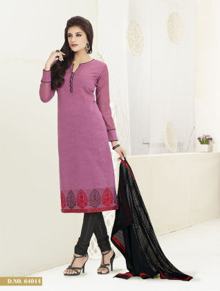 Touch Trends Purple Banarasi Jaquard Dress Material - Touch Trends Ethnic
