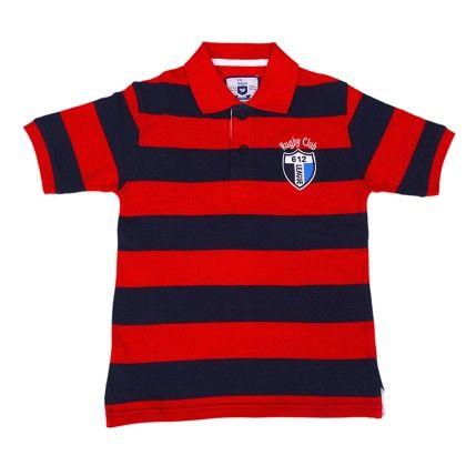 Striper Polo Pique Rugby Club - 612 League