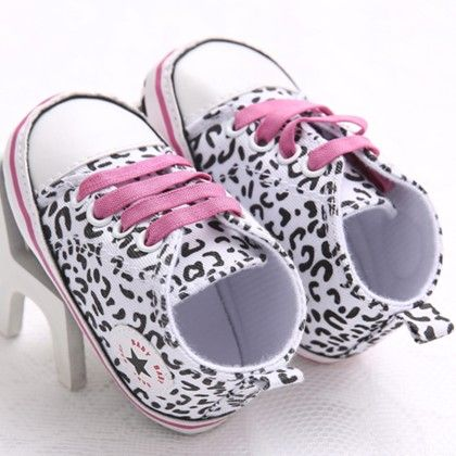 Leopard Print Black And White Canvas Shoes - Peach Giirl