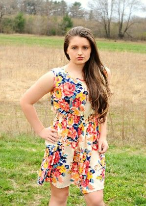 Floral Print Dress-multi - Xcel Couture