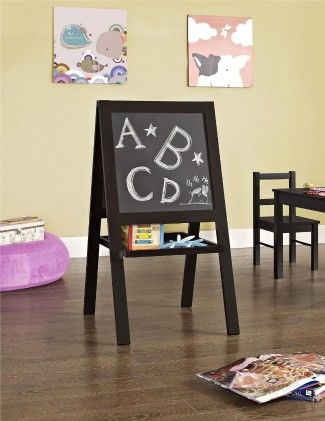 Hazel Kid's Floor Easel, Espresso Finish - Altra Furniture