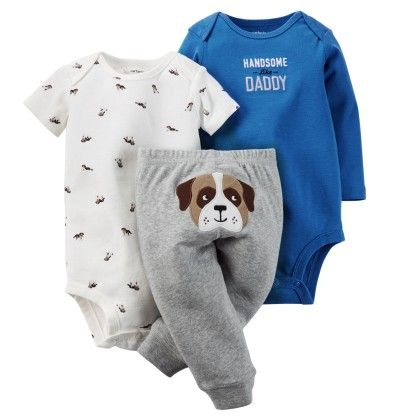 3-piece Bodysuit & Pant Set - Blue - Carter's