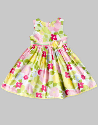 Multi-coloured Dress With Floral Print - Freda & Pixie