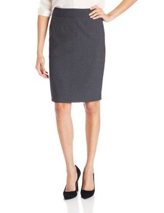 Straight-fit Suit Skirt-charcoal - Calvin Klein