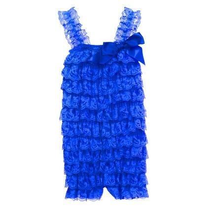 Baby Lace Petti Rompers Blue - Cutie Baby Boutique