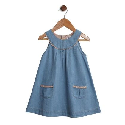 Denim A-line Dress Blue - My Lil'Berry