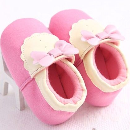 Pink And Yellow Classy Shoes - Peach Giirl