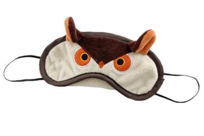 Funny Owl Soft Velvet Eye Sleep Mask Sleeping Eye Blinder Shade Cover Brown - Gent House