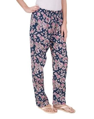 Blue Floral Print Pyjamas - Sheer Love
