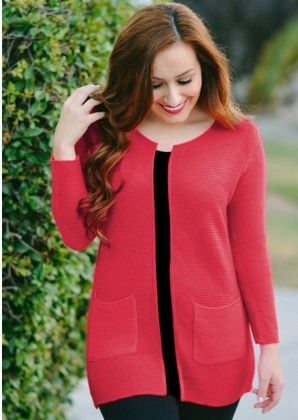 Live It Up Cardigan - Red - Xcel Couture