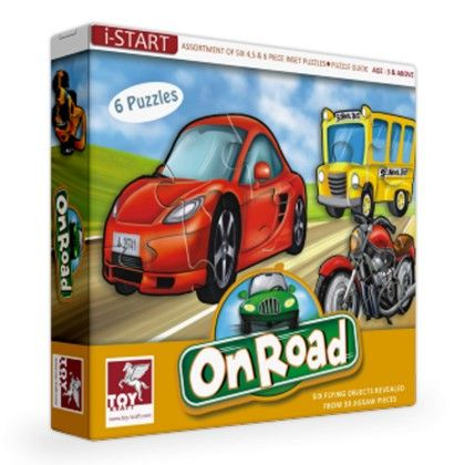 Super Set Of Six  - On Road - TOY-KRAFT