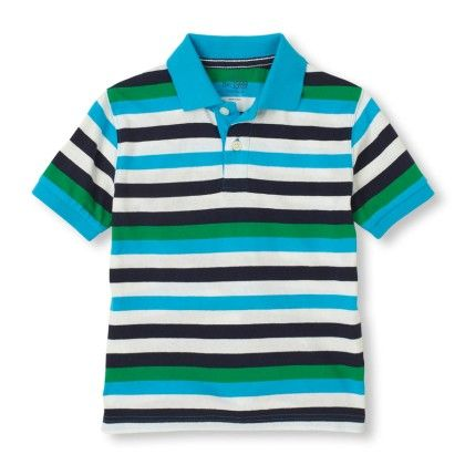 Short Sleeve Contrast Stripes Polo - Highland - The Children's Place