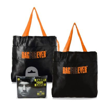 Pack Of 2 Bagforever Black Shopping Bag - Be For Bag