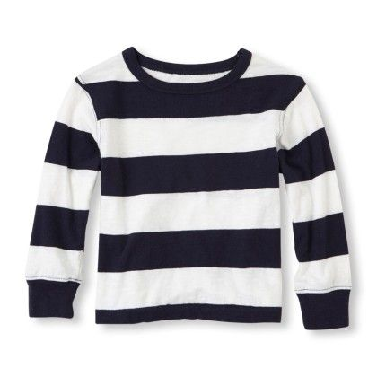 Long Sleeve Striped Crew Tee - Tidal - The Children's Place