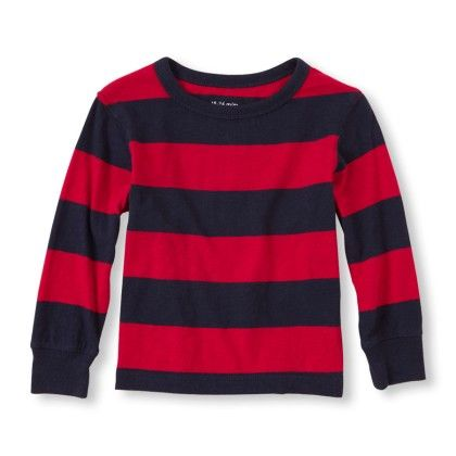 Long Sleeve Striped Crew Tee - Classicred - The Children's Place