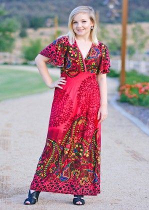 Breezy Maxi Dress-fuchsia - Xcel Couture
