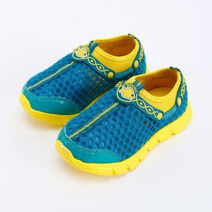 Blue And Yellow Funky Shoes - Oh Pair