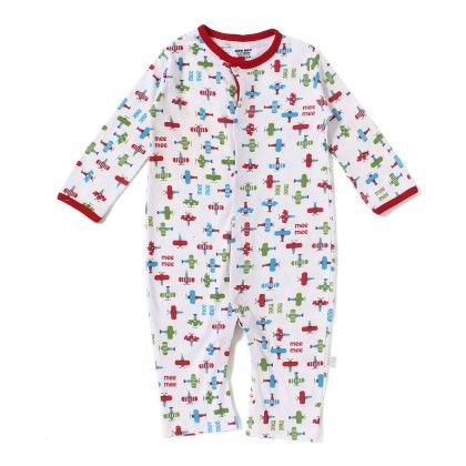 Baby Romper - White All Over Multi Color Print - Mee Mee