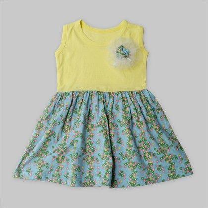 Yellow Ditsy Floral Dress - A.T.U.N