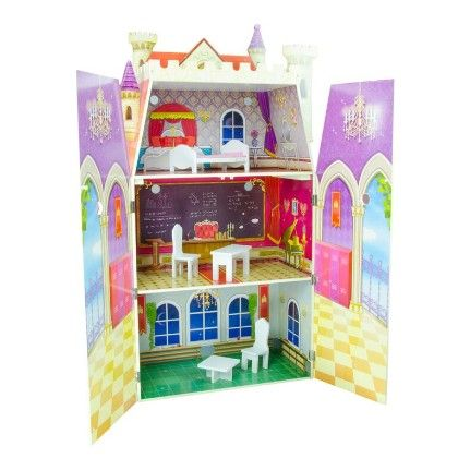 Fancy Castle Doll House With Funiture - Teamson Kids