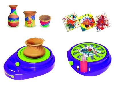 Pottery Wheel & Splash Art Studio - Small World Toys
