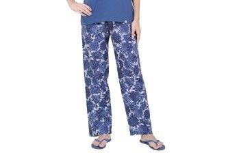 Blue Floral Print Woven Pyjama - Sheer Love